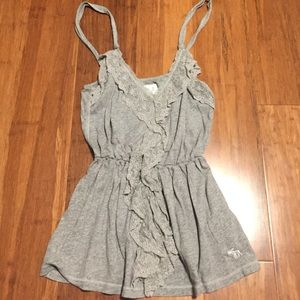 Abercrombie baby doll grey tank top